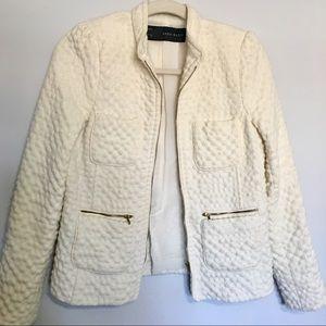 Zara Creme Blazer Jacket